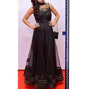 RAGINI SAREES Sleeveless Gown - Black