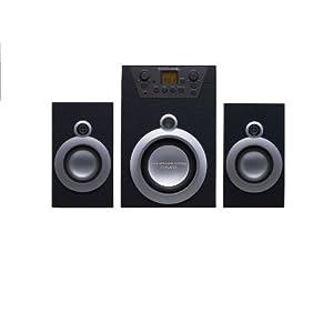 【クリックで詳細表示】RAPHAIE CDプレーヤー付き2.1chスピーカー WS-CD1: 家電・カメラ