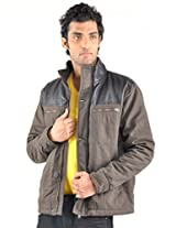Truccer Basics Men's Full Sleeves Slim Fit Cotton Winter Jacket