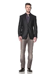 Versace Collection Men's Speckled Blazer (Black)