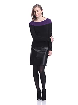 Katherine Barclay Women's Colorblock Dress (Purple/Black)