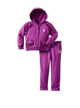 Baby Phat Girl's French Terry Jog Set (Purple)