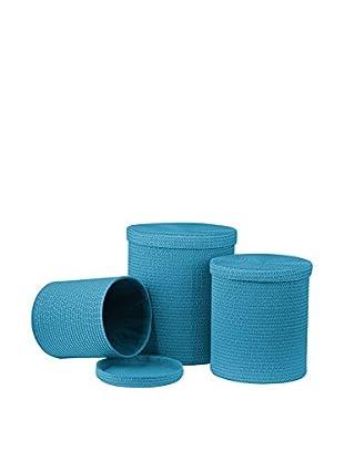 Premier Housewares Wäschekorb 3er Set 1900988 blau