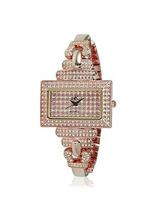 Adee Kaye Women's 19-LRG/C Rose/Crystal Brass Watch
