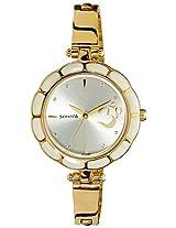 Sonata Analog Silver Dial Watch For Women -8120YM01