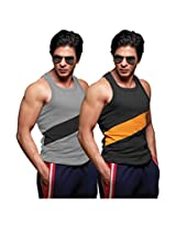 ONN NS535 Men's Assorted Cotton Sports Vest Pack of 2 (Small)