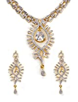 Golden Shireen Necklace with earrings
