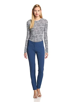 DEREK LAM Women's Stretch Crepe Legging (Lagoon)