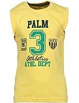 Yellow Sleevless T-Shirt