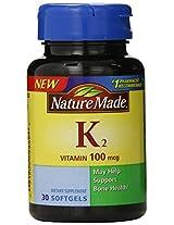 Nature Made Vitamin K2 Softgel, 100 mcg, 30 Count