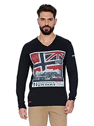 Geographical Norway Camiseta Manga Larga ML Jatchmen Ls Men 402 (Negro)