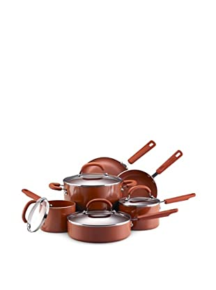 Earth Pan II by Farberware 10-Piece Nonstick Cookware Set (Terra Cotta)