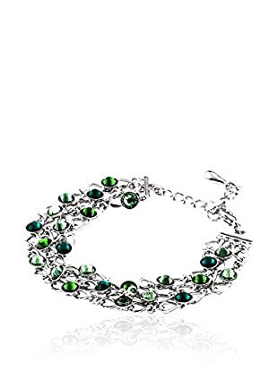 SWAROVSKI ELEMENTS Pulsera Grid Verde