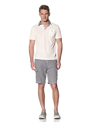 Barque Men's Polo with Contrast Collar (White)