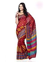 Shariyar Multi Color Art Silk Printed Saree PRG351