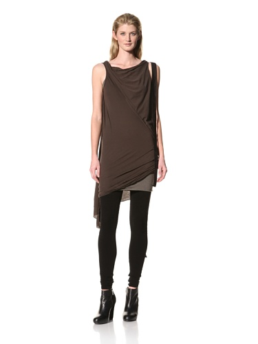 RICK OWENS Women's Caped Tunic (Bitter)
