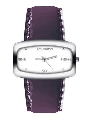 K&BROS 9154-3 / Reloj de Señora  con correa de piel morado