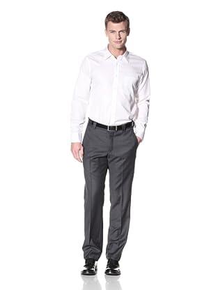 Incotex Ivory Men's Sharkskin Trousers (Dark Grey)