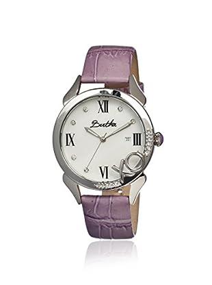 Bertha Women's BR2301 XO Purple/White Leather Watch