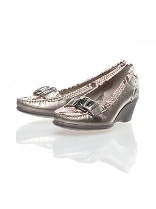 Clarks Zapatos Cuña Wish (Plata)