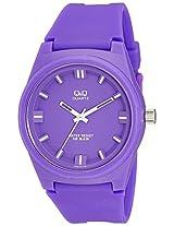 Q&Q Analog Purple Dial Unisex Watch - VR48J006Y