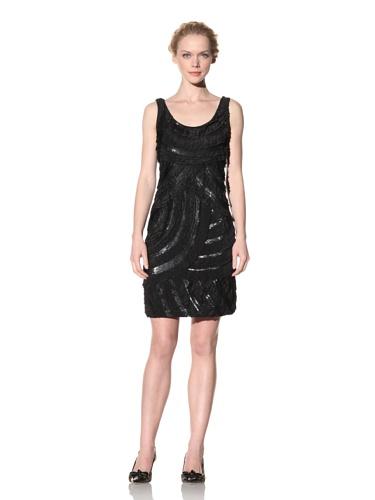 Philosophy di Alberta Ferretti Women's Tiered Dress with Sequin Detailss (Black)