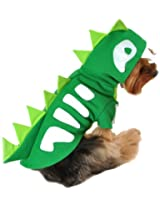 Anit Accessories 8-Inch Green Skeleton Dinosaur Dog Costume, X-Small