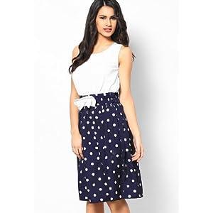 Sleeve Less Printed White Dress