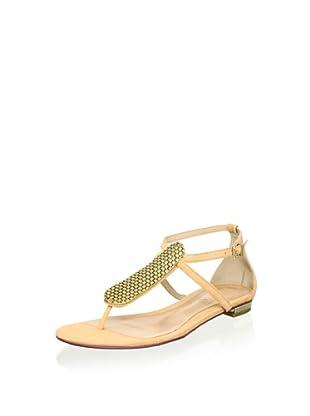 Schutz Women's T-Strap Sandal (Dark Sand)