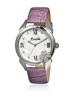 Bertha Uhr mit Japanischem Quarzuhrwerk Clover violett 41 mm