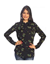 UPTOWNGALERIA Black Printed Shirt