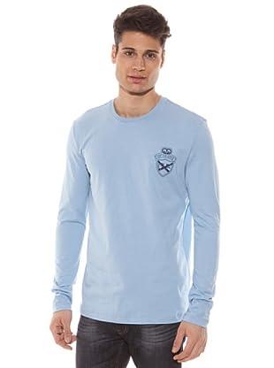 Gianfranco Ferré Camiseta Manga Larga Logo (Azul Claro)