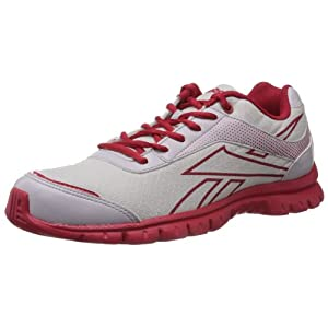 Reebok Men's Extreme Traction Lp White and Red Mesh Running Shoes  - 10 UK