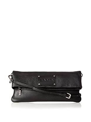 L.A.M.B. Women's Barri Cross-Body Fold Over, Black