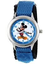 "Disney Kids' W000011 ""Mickey Mouse"" Stainless Steel Time Teacher Watch"