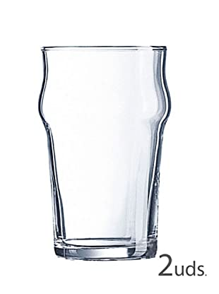 Luminarc Estuche 2 Vasos Cerveza 57 Cl Modelo Nonic