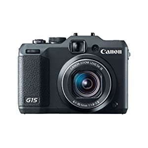 Canon PowerShot G15 12.1MP Point and Shoot Camera (Black) with 5x Optical Zoom, Memory Card and Camera Case