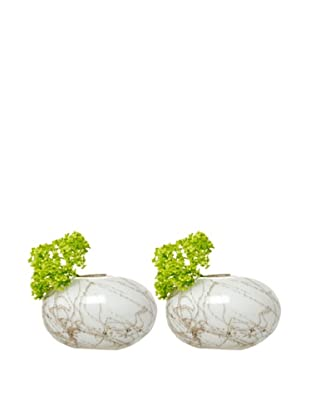 Chive Set of 2 Champagne Oval Vases