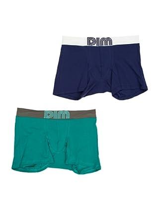 DIM Retroshorts Soft Pop Touch 2er Pack (Grün/Blau)