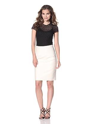 Nina Ricci Women's Lace Tee with Zipper (Black)