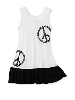 Purple Orchid Girl's Peace Dress (White/Black)