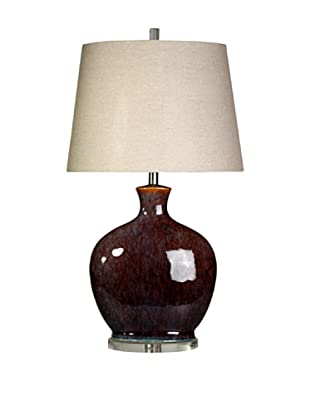 StyleCraft Ceramic/Acrylic Table Lamp, Plum