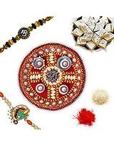 Chandan Special Rakhi. Gift Hamper 27009
