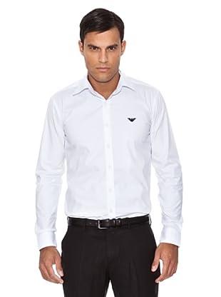 Emporio Armani Camisa Logo (Blanco)
