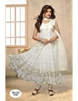 Fabboom The New Disignar White Long Anarkali Suit