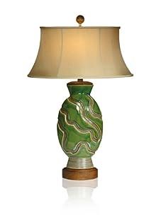 "Aqua Vista Irish Walk Table Lamp, 30"""