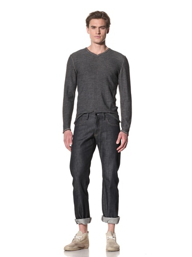 Rogan Men's Piston Denim Selvage Jeans (Dark Indigo)