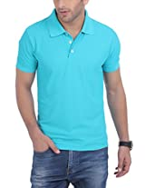 American Crew Men's Polo Dri-Fit Blue Bird T-Shirt - XL (AC135-XL)