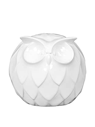 Large Ceramic Owl, White