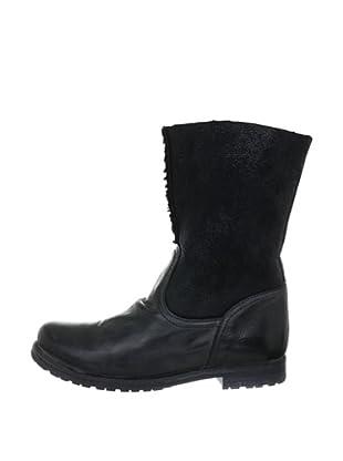 Buffalo London ES 16002 APACHE BATDO OLD DBL 133839 - Botines fashion de cuero para mujer, color negro, talla 36